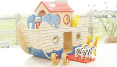noah's wooden ark - Indigo Jamm designer toys from a UK based company