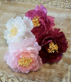 Wafer paper flowers wafer paper flowers pinterest more wafer edible peonies large wafer paper flowers for cakes wedding cake decorations tree peonies mightylinksfo