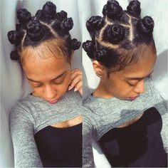 """naomi ? on Instagram: """"Did me some bantu knots n boy are they not fun... ❤ liked on Polyvore featuring hair"""