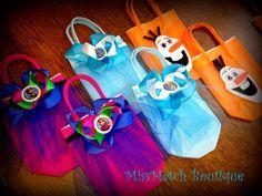 Frozen Anna Disney Favor Tutu Gift Birthday Bags 6x6 Treat Bags Dress Tutu Hair Bow Olaf Elsa on Etsy, $6.00