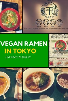 Vegan ramen may seem hard to find at first, but you just need to do a bit of research and look in the right places. This article will show you a couple of cool places to try in Tokyo Hiroshima, Nagasaki, Osaka, Vegetarian Ramen, Vegetarian Recipes, Sapporo, Kyoto, Tokyo Japan, Japan Trip
