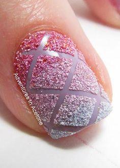 Criss cross nail art #nailart #nails