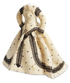 View Catalog Item - Theriault's Antique Doll Auctions - french poupee's silk faille ensemble with alencon lace