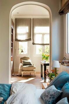 Martes Tendencia: mirá las fotos de este departamento en Barcelona, lleno de géneros y luz, ¡e inspirate para tu casa! www.generosdelsur.com.ar