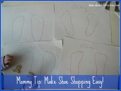Mommy Tip: Just Bring the Feet. Make shoe shopping for kids easier with this quick and simple tip!