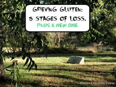 Grieving gluten is a real thing. The stages of loss of gluten are much like any other loss. There are 5 main stages of grief. Plus there's a new stage!