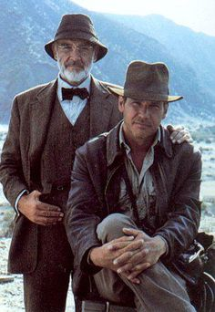 Sean & Harrison (stock photo) 'Indiana Jones and the Last Crusade' Henry Jones Jr, Harrison Ford Indiana Jones, Indiana Jones Films, Indiana Jones Adventure, Sean Connery, Movie Poster Art, French Films, Indie Movies, Smallville