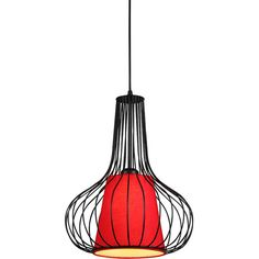 Vintage Industrial Chinese Vase Shaped Pendant Light (175 AUD) ❤ liked on Polyvore featuring home, lighting, ceiling lights, red pendant light, low ceiling lighting, red pendant lighting, red lamp and iron pendant light