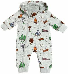eae20c46e9a Camping Organic Cotton Sweatshirt Romper - baby clothes - need it