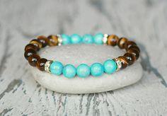 Womens tiger eye stone Stretch Bracelet Handmade jewelry Boho