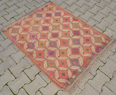 Vintage Turkish Kilim 3′ 1″ x 4′ Hand Woven Natural Wool Jajim Rug 37″ x 48″ | eBay