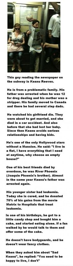 Things you didn't know about Keanu Reeves