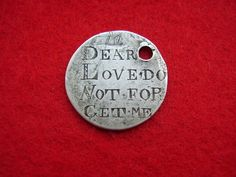 GEORGE III 1819 SILVER TOKEN ENGRAVED LOVE TOKEN 'DEAR LOVE DO NOT FORGET ME'