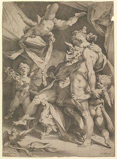 Venus and Mercury - Bartholomeus Spranger ; Jan Muller