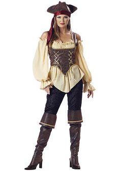 Adult Realistic Female Pirate Costume