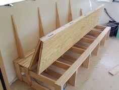 DIY folding sofa bed in an Airstream #rv