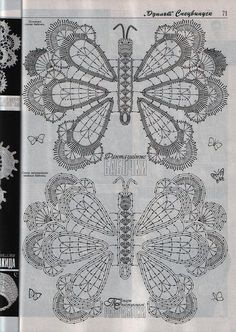 "Photo from album ""Дуплет on Yandex. Filet Crochet, Crochet Diagram, Freeform Crochet, Crochet Chart, Irish Crochet, Crochet Motif, Crochet Patterns, Crochet Butterfly Pattern, Crochet Flowers"