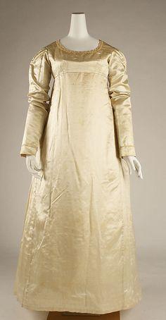 Wedding Dress: ca. 1823, American.