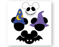 Disney Icon Mickey Mouse Icon Minnie Mouse by HJYGraphicDesign Mickey Mouse Halloween, Halloween Clipart, Halloween Birthday, Mickey Ears, Halloween Crafts, Halloween Baking, Halloween Door, Halloween 2016, Halloween Christmas