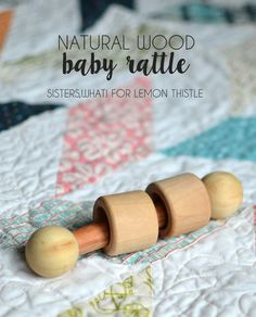 These DIY natural wood baby rattles arequick and easy to make, plus safe for the baby to suck to it's heart desire. A sweet baby shower gift!