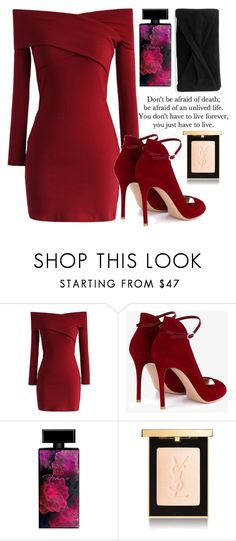 """115"" by erohina-d ❤ liked on Polyvore featuring beauty, Chicwish, Gianvito Rossi, Elizabeth Arden, Yves Saint Laurent and Reiss"