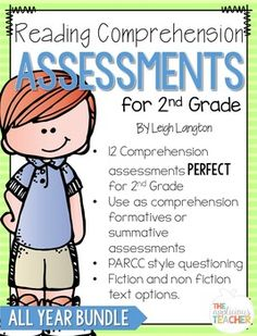 2nd Grade Reading Comprehension AssessmentsReading Tests for Second GradeLooking for assessments to be used reading formatives or summatives in your second grade classroom? This YEAR LONG bundle is designed to progress monitor second graders' reading comprehension through out the year.