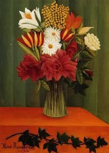 꽃병 by Henri Rousseau Art Floral, Flower Vases, Flower Art, Henri Rousseau Paintings, Post Impressionism, Art Moderne, Naive Art, Museum Of Modern Art, Art Plastique