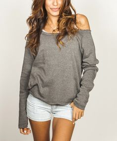 Black Off Shoulder Pullover