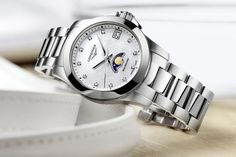 TimeZone : Industry News » N E W M o d e l - Longines Conquest Moonphase Ladies Sale! Up to 75% OFF! Shot at Stylizio for women's and men's designer handbags, luxury sunglasses, watches, jewelry, purses, wallets, clothes, underwear & more!