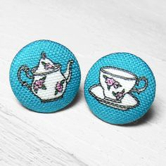Earrings, maybe another cross stitch idea, great for blackwork too