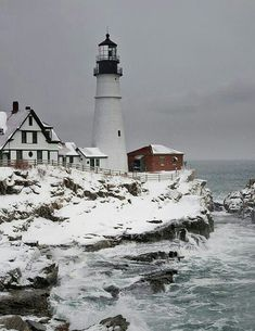 Portland Head in Cape Elizabeth, Maine.