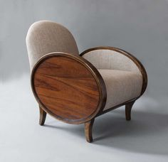 Pair of Swedish Art Deco Bergeres with oval rosewood panels. image 2
