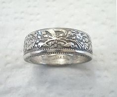 Coin Ring Swiss Helvetia Silver 2 Franc Place by SpiritualFlyer Bridal Jewelry, Silver Jewelry, Diamond Jewelry, Do It Yourself Fashion, How To Make Rings, Claddagh Rings, Coin Ring, Silver Coins, Jewelry Making