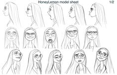 Honey Lemon Model Sheet, Big Hero 6