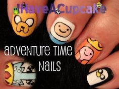 Adventure Time Nail Art (+playlist)