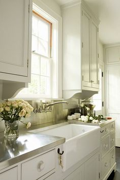NEW HOUSING TRENDS 2015: Countertops aren't what they used to be. #Stainless Steel. If commercial #kitchens use it, you know it's going to be tough and stand the test of time—and be easy to clean. See more on our House Plans Blog http://houseplansblog.dongardner.com/new-housing-trends-2015-countertops-arent-used/