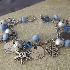Let is Snow Charm Bracelet by WireNWhimsy on Etsy, $30.00
