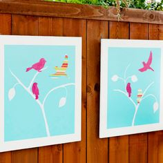 Bring the Indoors Out -   Wall art constructed from plywood, exterior-grade paint, and a double coat of sealer provides interest on a privacy fence.   To download the artwork templates, click here.