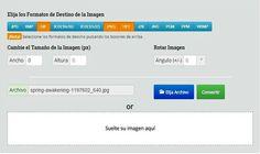 ImageConverter: utilidad web para redimensionar y convertir imágenes
