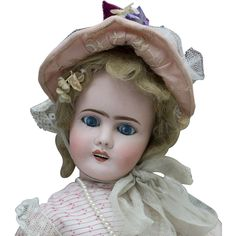 "18"" (46 cm) Antique French Limoges doll, c.1900 from respectfulbear on Ruby Lane"