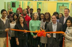 The ribbon cutting celebrating the partnership of Eight O'Clock Coffee, Publicolor and EcoMedia resulting in the revitalization of August Martin High School. #CoffeeFuelsChange