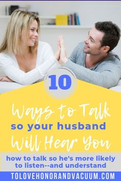 """When you think, """"My husband doesn't listen to me,"""" or """"my husband doesn't understand me,"""" what do you do? 10 ways to change how you talk so your husband will listen--and help you feel understood. Tips for better communication in marriage. Christian Husband, Christian Marriage, Communication In Marriage, Good Communication, Marriage Advice, Relationship Tips, Relationships, Passionate Couples, Emotional Connection"""