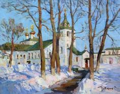 Sergei Nebessikhine. À l'aude du printemps. Huile sur toile. 50 x 40