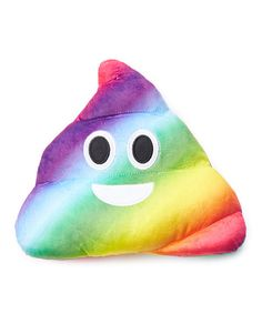 Look at this Rainbow Poop Emoji Plush Pillow on #zulily today!