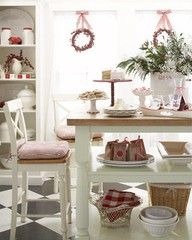 ♥ Kitchen decorated at Christmas time