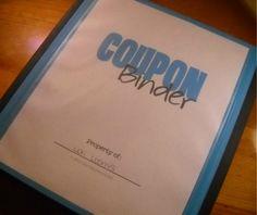 Free Coupon Binder Orgainzer sheets