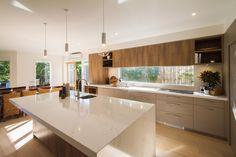 Mont Albert North - The Kitchen Design Centre Kitchen Room Design, Modern Kitchen Design, Home Decor Kitchen, Interior Design Kitchen, Home Kitchens, Kitchen Dining, Kitchen Benchtops, Kitchen Countertops, Mid Century Modern Kitchen