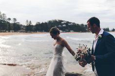 """181 Likes, 2 Comments - KAREN WILLIS HOLMES (@kwhbridal) on Instagram: """"ON THE BLOG - The Bespoke AVA gown, worn by Sheri. Gareth + Sheri's Palm Beach wedding is not to be…"""""""