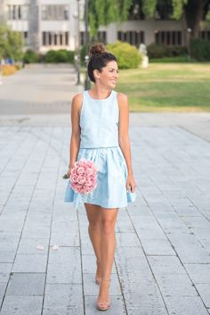 Something blue in this two piece set ...