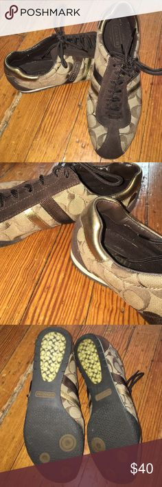 Coach Sneakers Sparingly used. Authentic. Original laces as well. Coach Shoes Sneakers